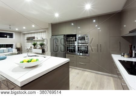 Interior Shot Of Modern And Luxury Kitchen Design