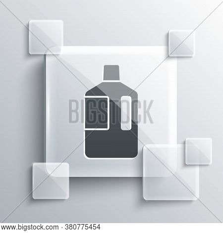 Grey Big Bottle With Clean Water Icon Isolated On Grey Background. Plastic Container For The Cooler.