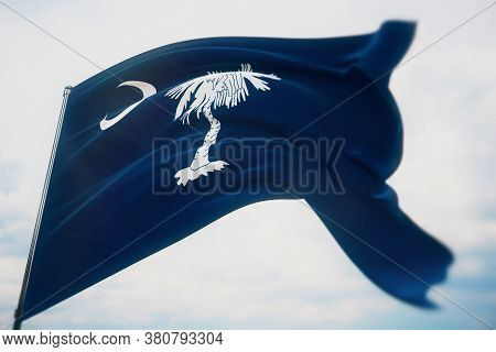Flags Of The States Of Usa. State Of South Carolina Flag. 3d Illustration. United States Of America