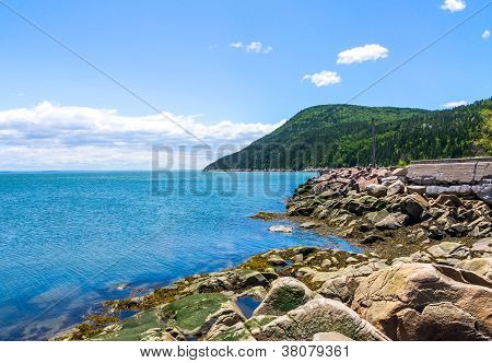 Landscape Of Port-au-persil In Charlevoix