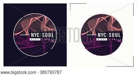 Nyc Soul T Shirt Vector Abstract Design, Poster, Print, Template