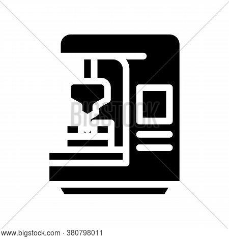 Cnc Computer Numerical Control Glyph Icon Vector Illustration
