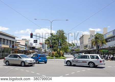 Cairns, Australia - October 15, 2009: Traffic In The Central Street Of Cairns