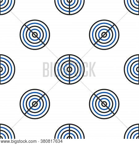 Line Earth Structure Icon Isolated Seamless Pattern On White Background. Geophysics Concept With Ear