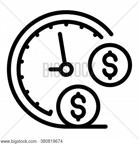 Approved Allowance Time Icon. Outline Approved Allowance Time Vector Icon For Web Design Isolated On