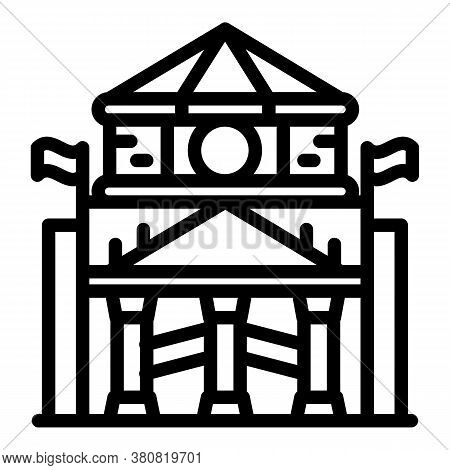 Parliament Icon. Outline Parliament Vector Icon For Web Design Isolated On White Background
