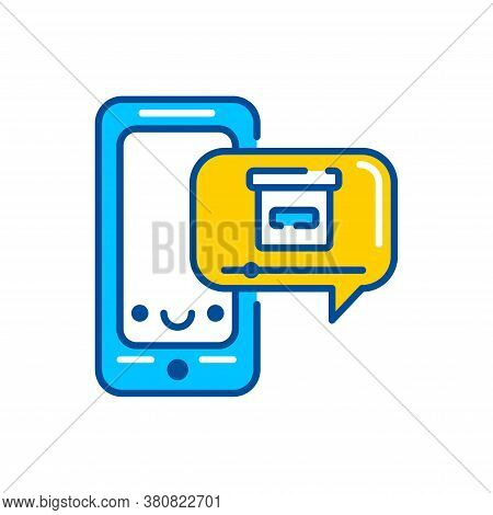 Product Demo Color Icon. Custom Video Content. Sign For Web Page, Mobile App, Button, Logo. Vector I