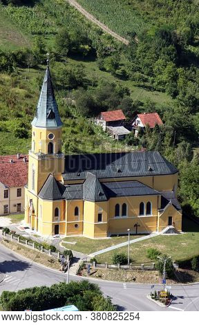 DESINIC, CROATIA - JULY 14, 2011: Saint George Parish Church in Desinic, Croatia
