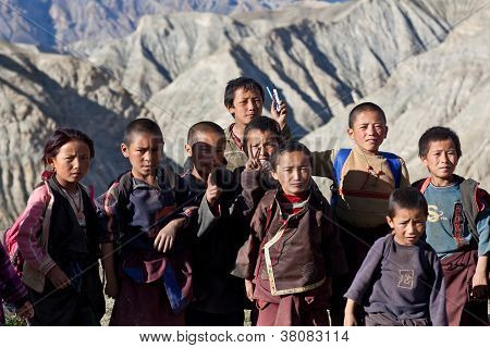 Tibetan students