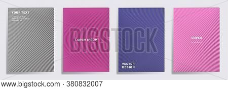 Simple Covers Linear Design. Radial Semicircle Geometric Lines Patterns. Linear Backgrounds For Note
