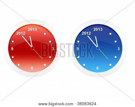 Clock, just before the new year 2013
