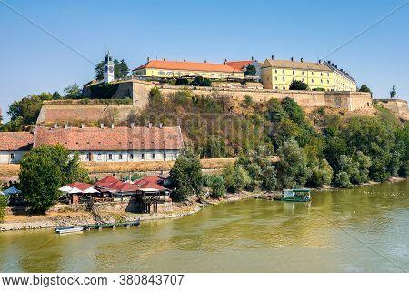Novi Sad / Serbia - August 16, 2017: Petrovaradin Fortress On The Danube River In Novi Sad, Vojvodin