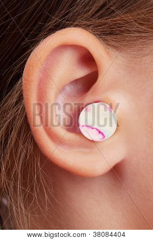 Ear Plugs In The Human Ear
