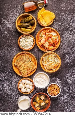 Fermented Food, Probiotics, Top View