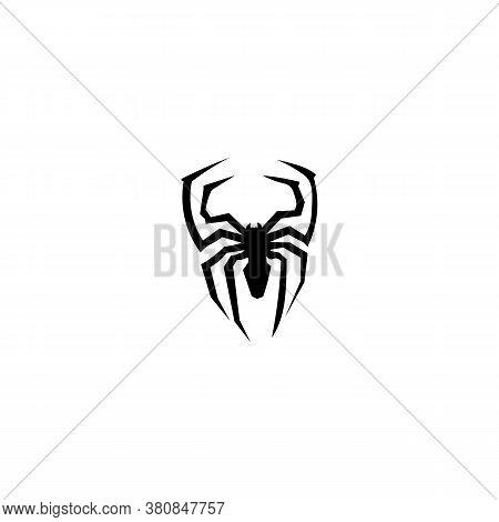 Spider Black Sign Icon. Vector Illustration Eps 10