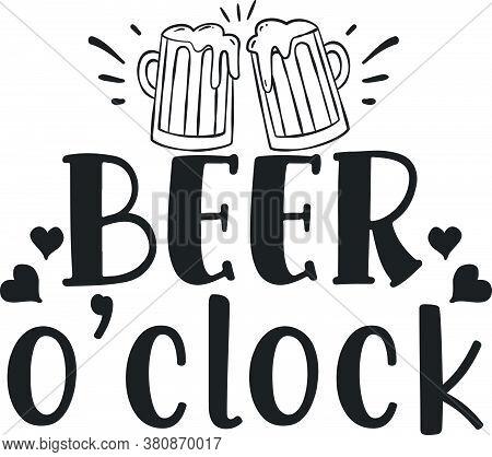 Beer O Clock Design On T-shirt Printing Silk Screen