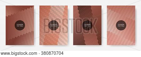 Zig Zag Lines Halftone Banner Templates Set, Gradient Stripes Texture Vector Backgrounds For   Busin