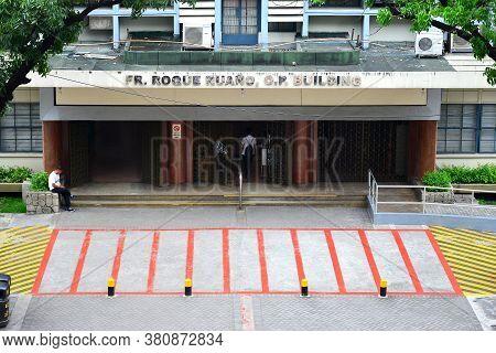 Manila, Ph - June 2 - University Of Santo Tomas Roque Ruano Building Facade On June 2, 2018 In Manil