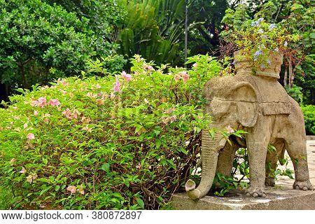 Manila, Ph - June 2 - University Of Santo Tomas Elephant Animal Statue On June 2, 2018 In Manila, Ph