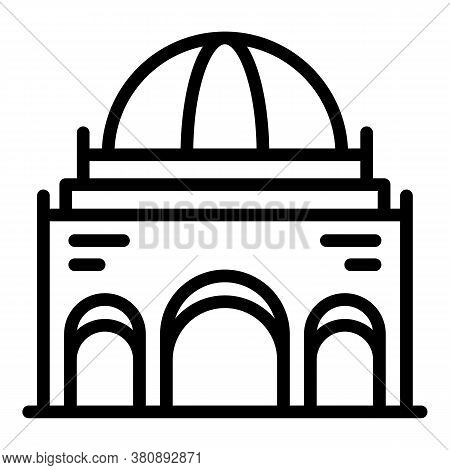 European Parliament Icon. Outline European Parliament Vector Icon For Web Design Isolated On White B