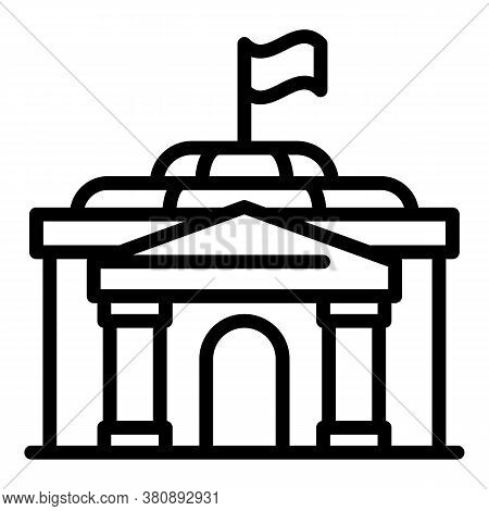 Urban Parliament Icon. Outline Urban Parliament Vector Icon For Web Design Isolated On White Backgro