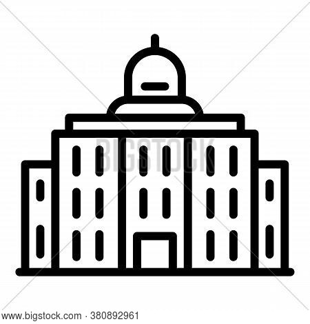 Cityscape Parliament Icon. Outline Cityscape Parliament Vector Icon For Web Design Isolated On White