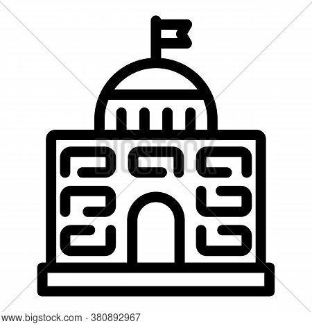 Famous Parliament Icon. Outline Famous Parliament Vector Icon For Web Design Isolated On White Backg