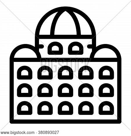 Sightseeing Parliament Icon. Outline Sightseeing Parliament Vector Icon For Web Design Isolated On W