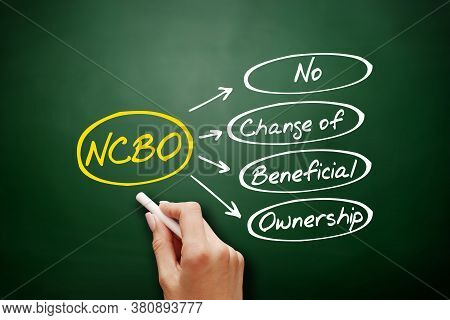 Ncbo - No Change Of Beneficial Ownership Acronym, Business Concept Background On Blackboard