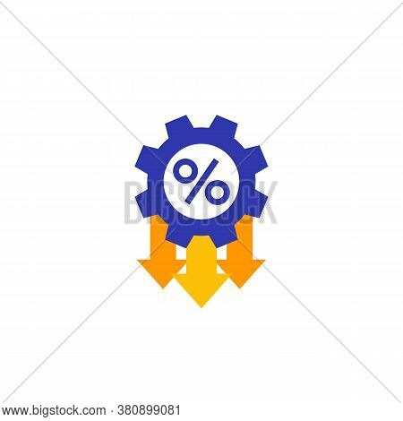 Cost Optimization, Efficiency Vector Flat Icon, Eps 10 File, Easy To Edit