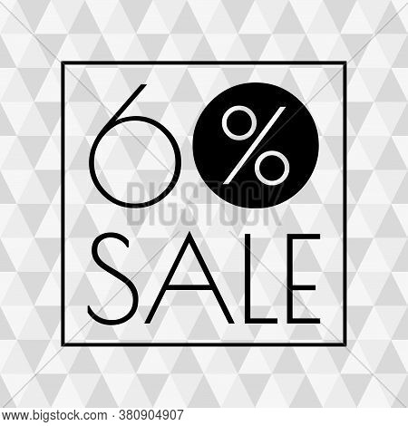 60% Sale Icon. Discount Banner With 60 Percent Price Off. Vector Illustration.