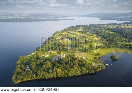 Loch Lomond Golf Course Aerial View Scotland