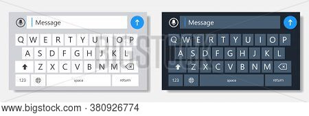 Realistic Phone Keyboard. Vector Illustration. Smartphone Keypad On White Background.