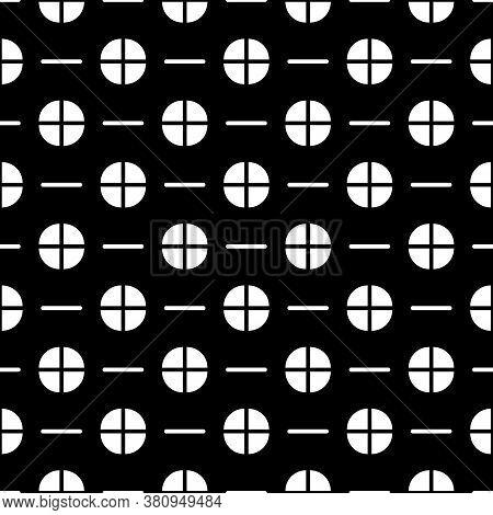 Quarter Circle Shapes, Strokes Seamless Pattern. Broken Circles, Dashes Print. Shapes, Lines Ornamen