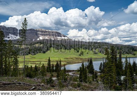 Brooks Lake, At The Base Of The Pinnacle Buttes Northeast Of Jackson Hole Near Dubois Wyoming.
