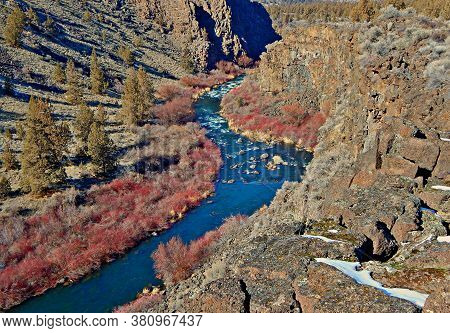 Cold River Chasm - A February Scene In The Deschutes River Canyon - West Of Terrebonne, Or