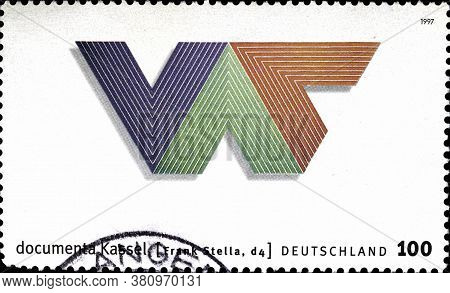 02 10 2020 Divnoe Stavropol Territory Russia The Postage Stamp Germany 1997 10th Documenta Modern Ar