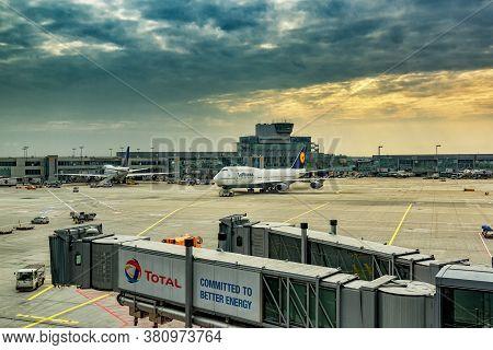 Frankfurt / Germany - September 26, 2017: Frankfurt Airport (flughafen Frankfurt Am Main), One Of Th