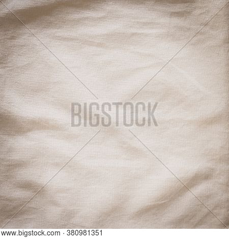 Cotton Muslin Cloth Texture Background Burlap Natural Lightweight Fabric Textile In Old Aged Beige B