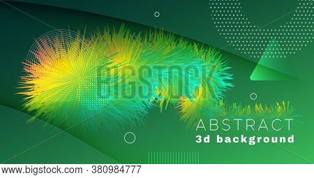 Colorful Fluid Background. Wave Graphic Motion. Vibrant Concept. Vector Bright Fluid Background. Cre
