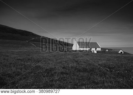 Mwnt, Ceredigion, Wales, 28th July 2020, View Of The Holy Cross Church On The Headland