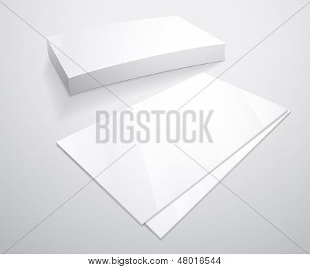 Empty white Business card layout