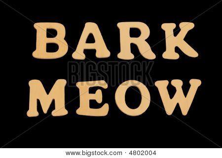 Wooden Word Barkmeow