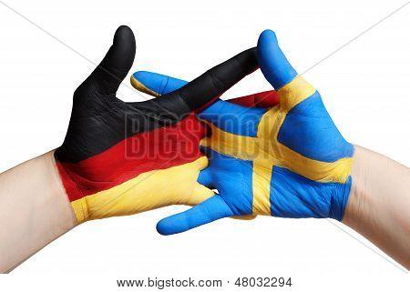 German And Swedish Hand