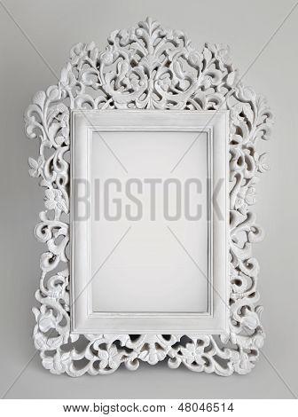Ornate white frame