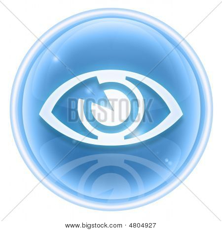 Eye Icon Ice, Isolated On White Background.