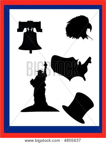 Silhouettes Of Items Popular In Usa