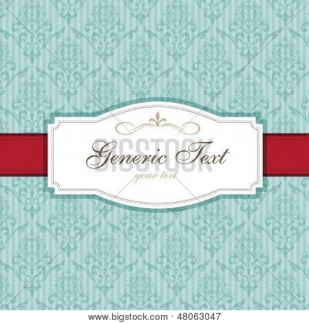 Vintage Card Damask Pattern