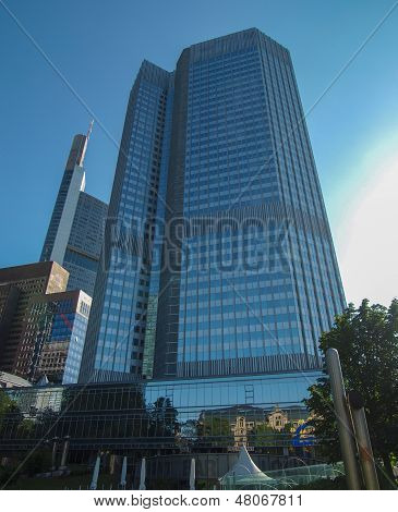European Central Bank in Frankfurt am Main Germany poster