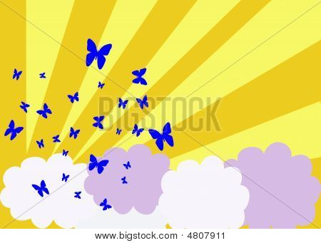 Butterflies On A Sunny Day